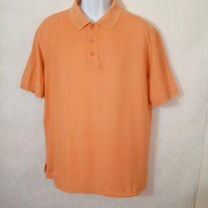 Nordstrom Men's polo Golf Shirt Size large Orange